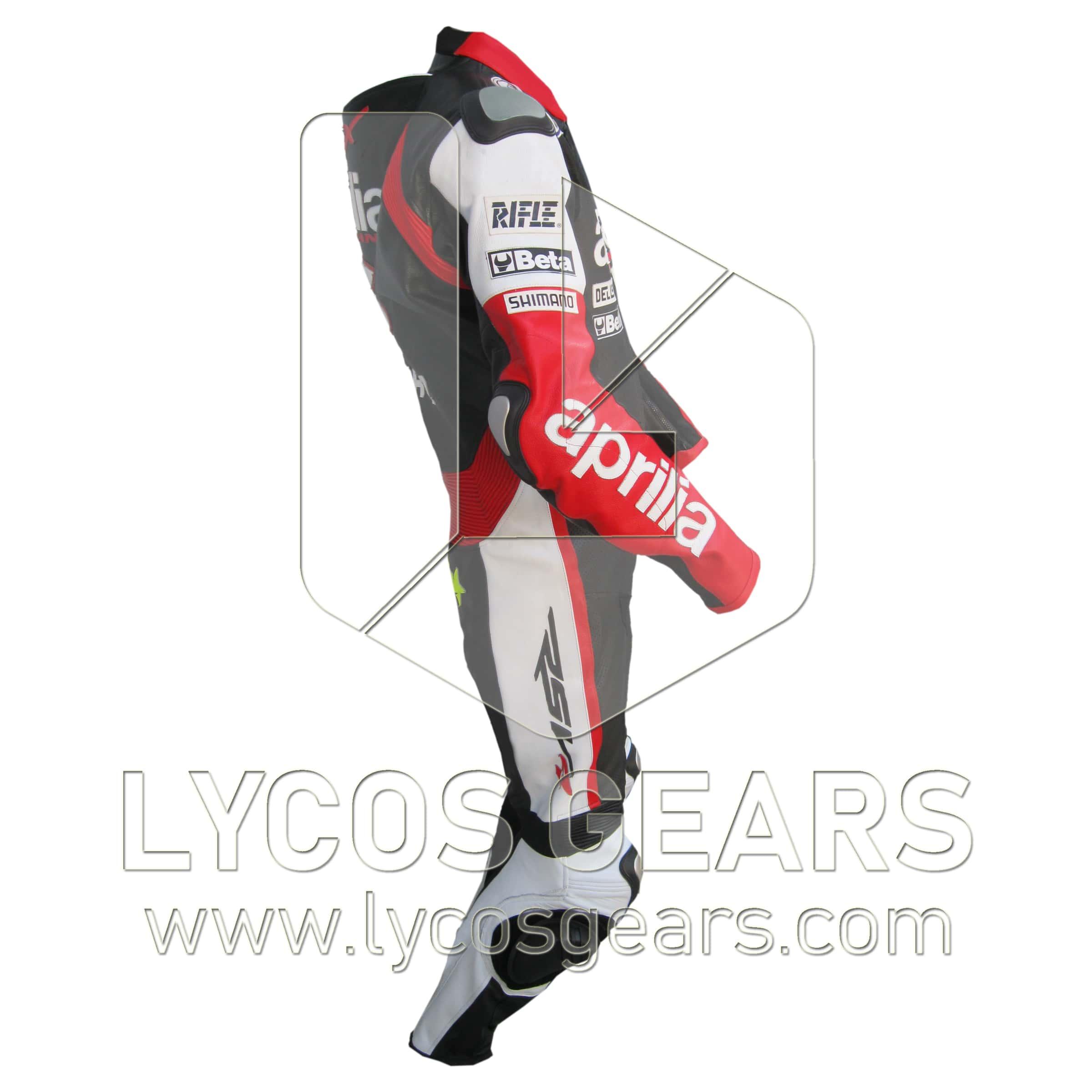 Aprilia One Piece Motorbike Racing Leather Suit