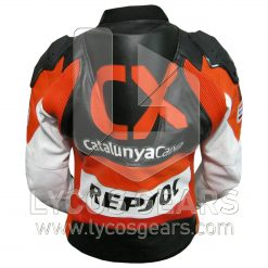CX Repsol Motorbike Racing Leather Jacket