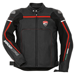 Ducati Corse Black Motorcycle Jacket
