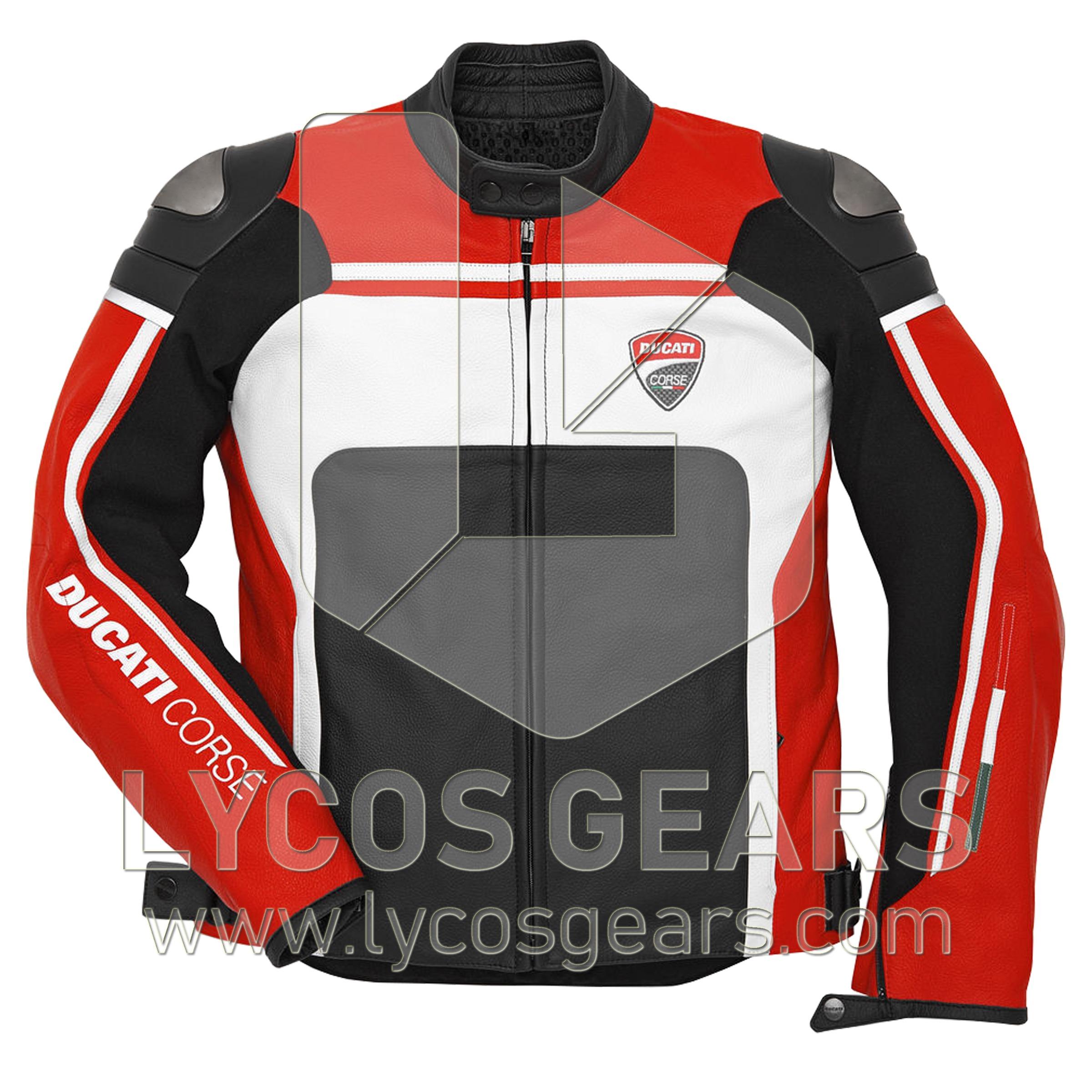 Ducati Corse Motorbike Jacket motorbike leather jacket