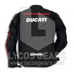 Ducati Corse Black Motorbike Leather-Jacket