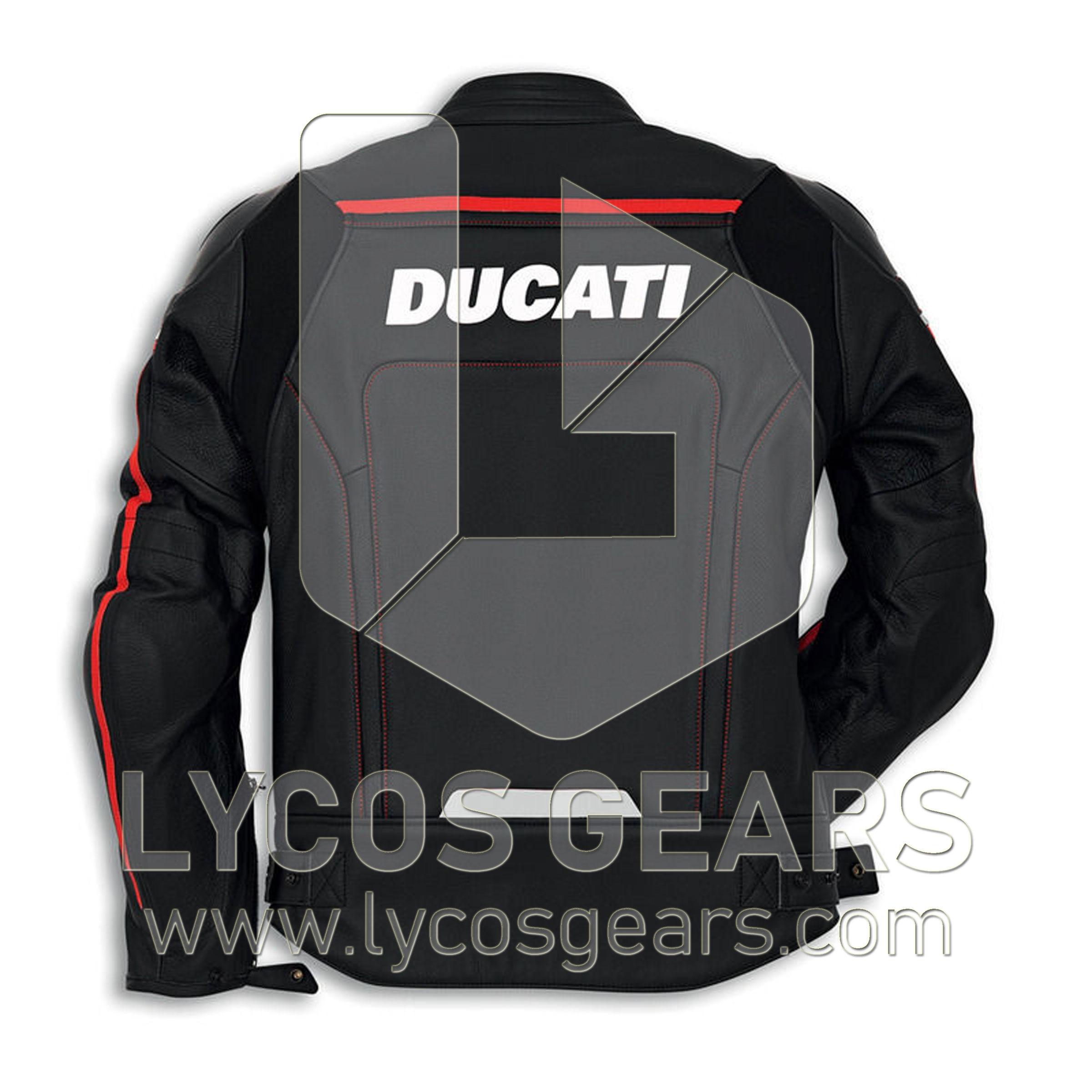 Ducati Corse Black Motorbike Leather-Jacket