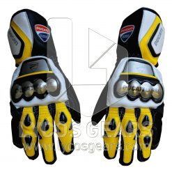 Ducati Motorcycle Gloves - Yellow