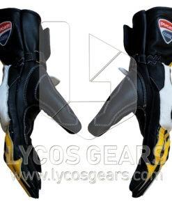 Ducati Motorbike Racing Leather Gloves (G)