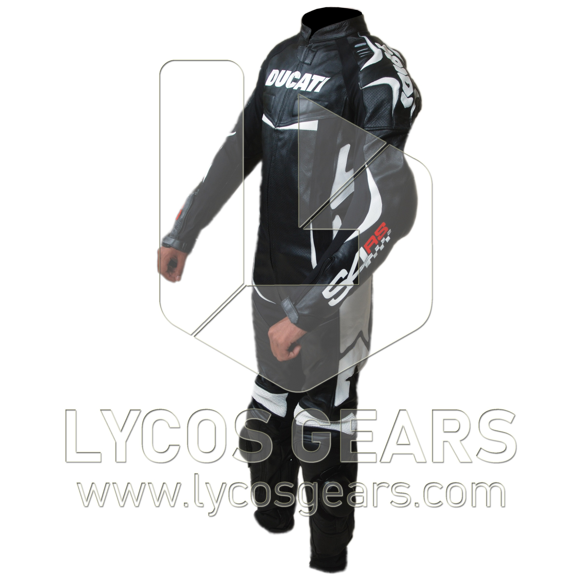 Ducati S4RS Motorbike Racing Leather Suit