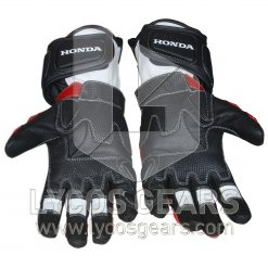 Honda Repsol Motorbike Racing Leather Gloves 2016