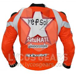 Honda Repsol One Heart Motorbike Racing Leather Jacket