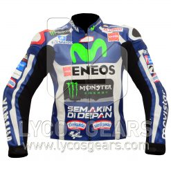 Jorge Lorenzo Yamaha Movistar MotoGp 2016 Motorcycle Racing Jacket Suit