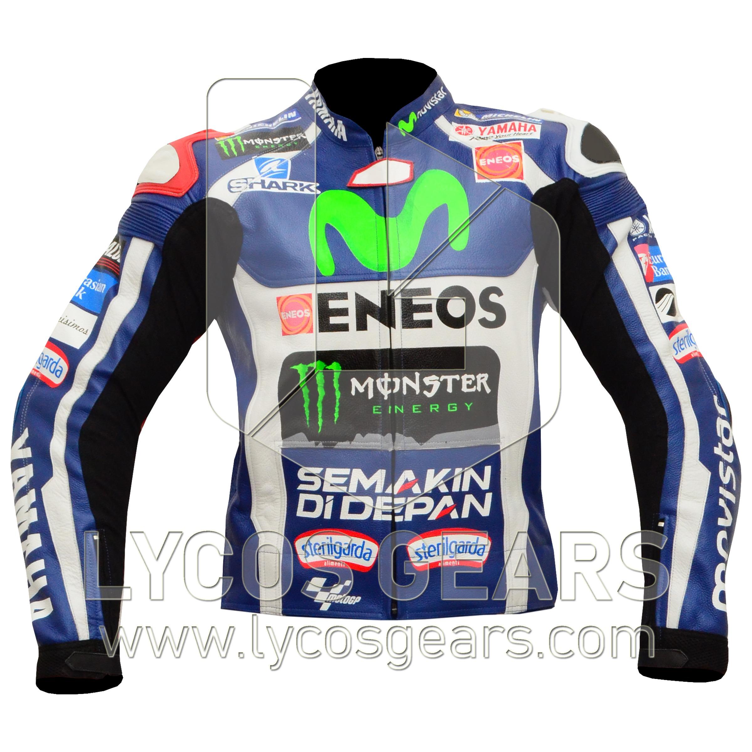 jorge lorenzo movistar 2016 motorcycle jacket