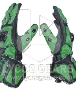 Kawasaki Monster Energy Motorbike Racing Leather Gloves