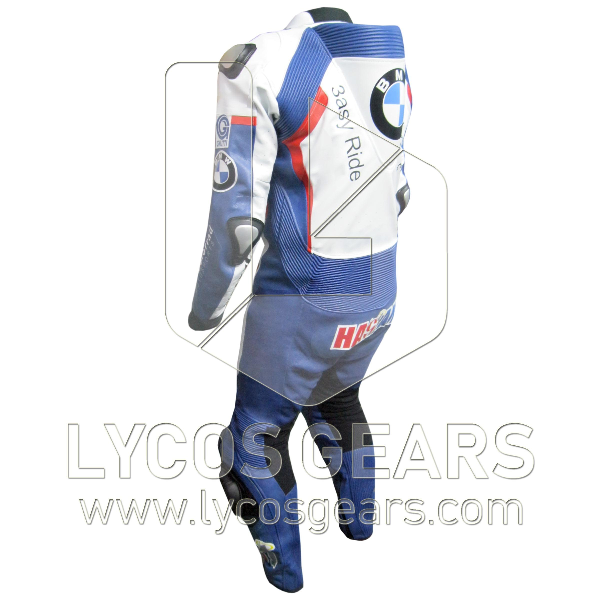 Leon Haslam BMW Motorbike Racing Leather Suit