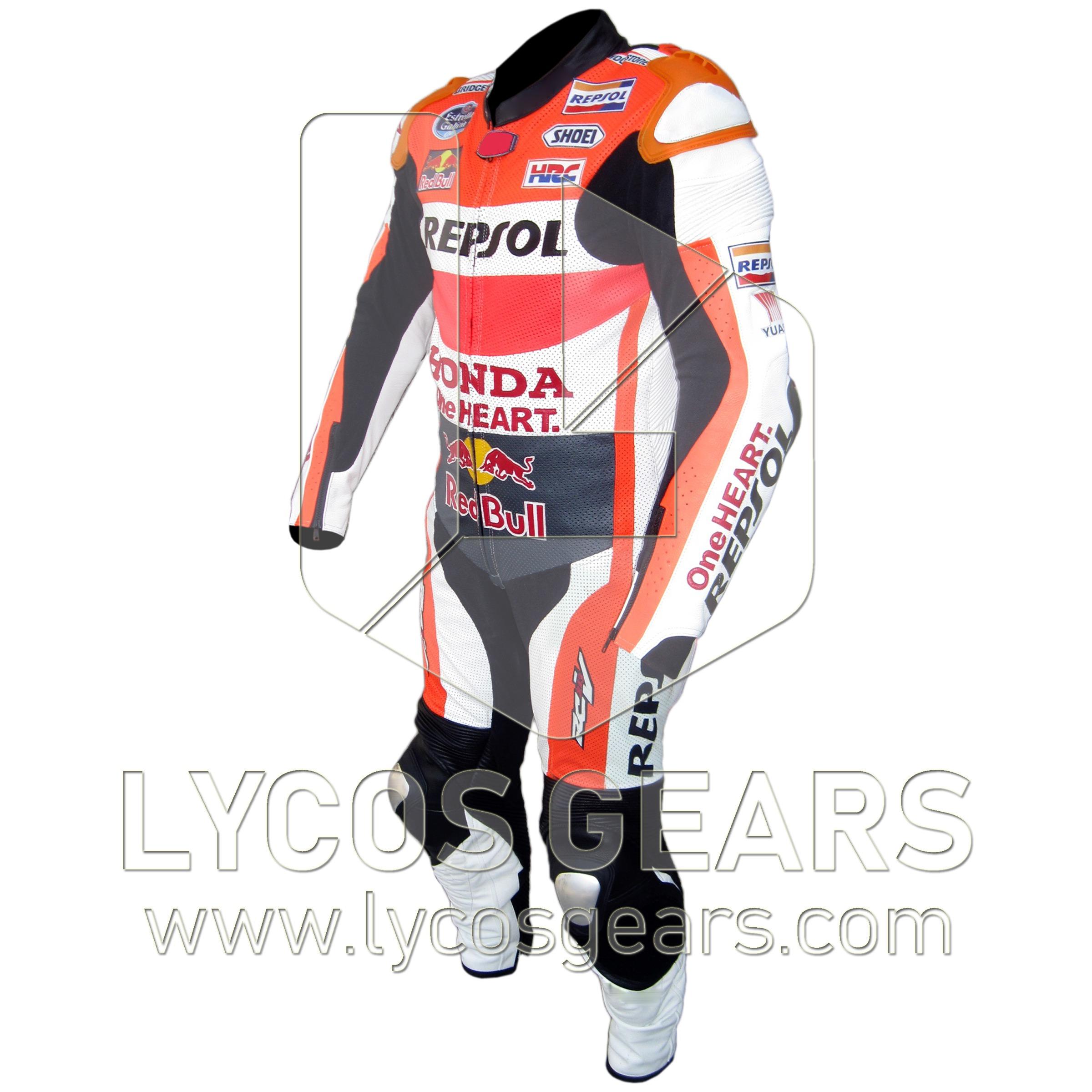 Marc Marquez Honda Repsol MotoGP 2015 Motorbike Racing Leather Suit