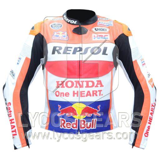 Marc Marquez Honda Repsol Motorcycle Jacket