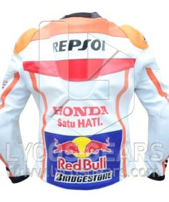 Marc Marquez Honda Repsol Motorbike Racing Leather Jacket