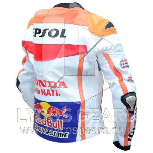 Marc Marquez Honda Repsol Motorbike Racing Leather Jacket