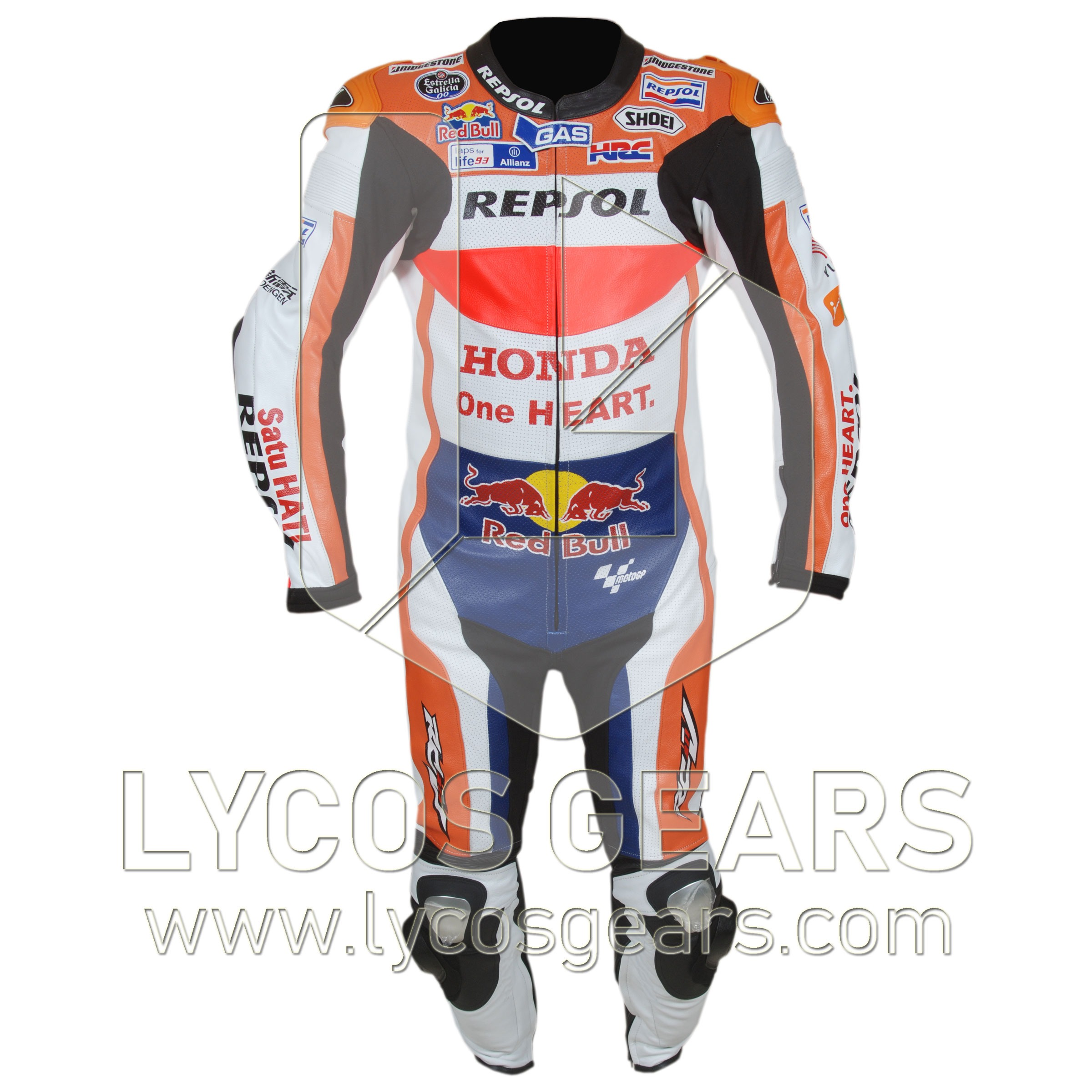 marc marquez honda repsol motorcycle suit 2016 lycos gears. Black Bedroom Furniture Sets. Home Design Ideas