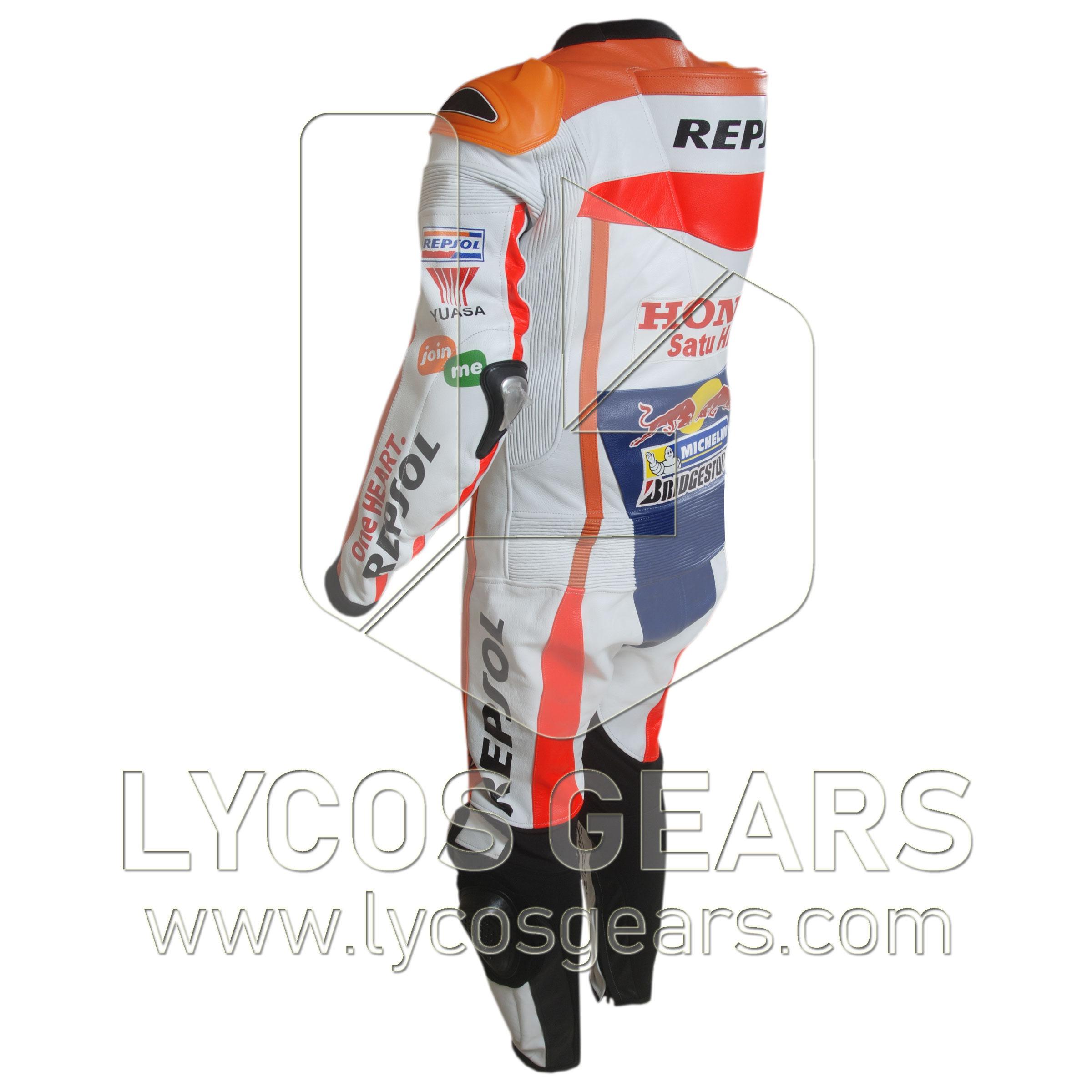 Marc Marquez Honda Repsol Motorbike Racing Leather Suit 2016