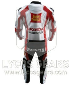 Marco Simoncelli Motorbike Racing Leather Suit