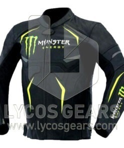 Monster Energy Motorcycle Racing Leather Jacket