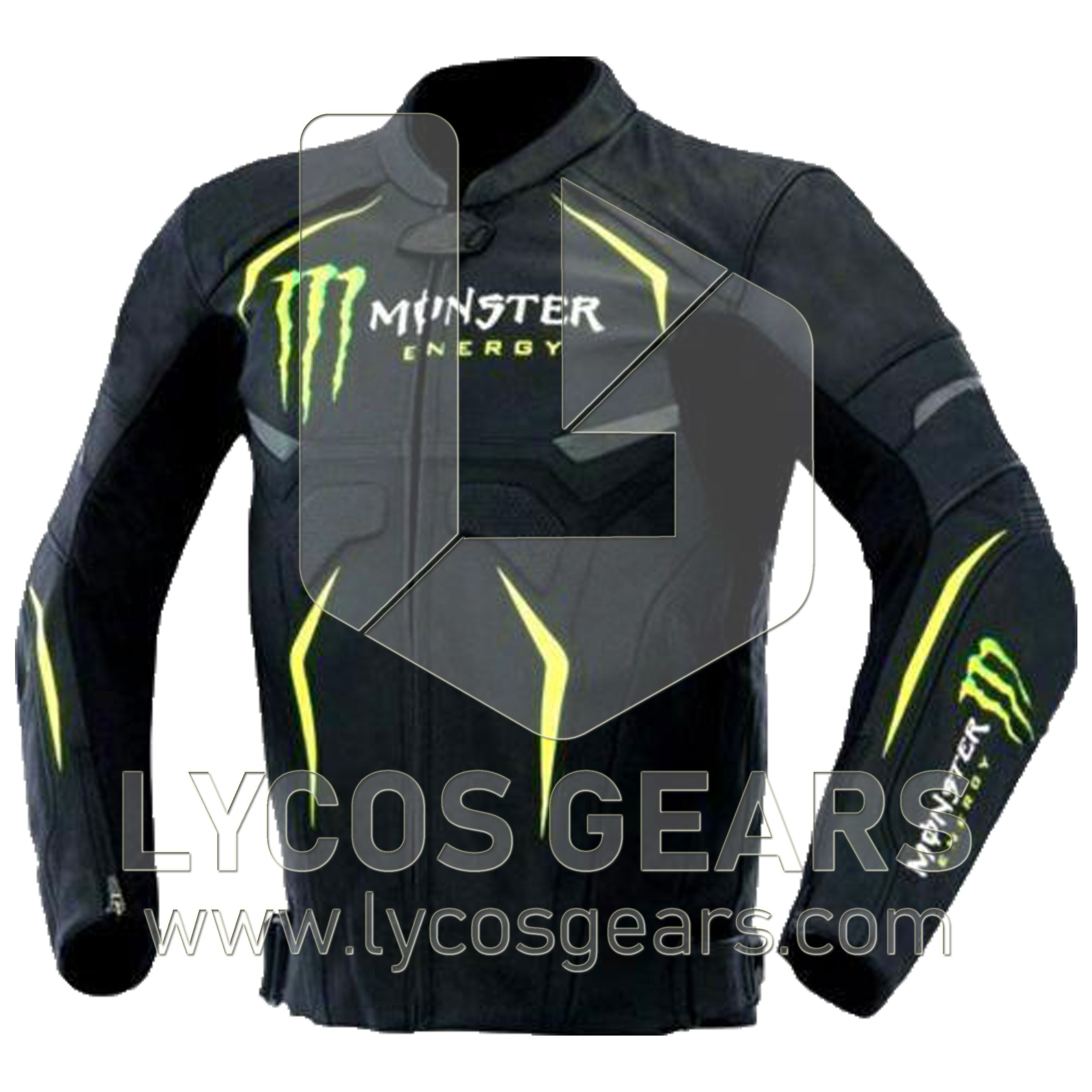 af0438da Monster Energy Motorcycle Leather Jacket - Lycos Gears