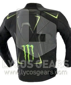 Monster Motorbike Racing Leather Jacket