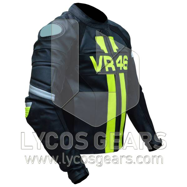 Rossi VR46 Motorbike Racing Leather Jacket