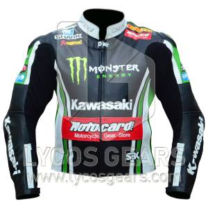 Tom Sykes Kawasaki Motorcycle Leather Jacket