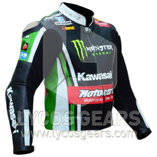 Tom Sykes Kawasaki Ninja Two Piece Motorbike Racing Leather Jacket
