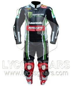 Tom Sykes Kawasaki Ninja Two Piece Motorcycle Suit