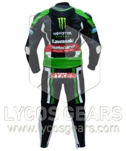 Tom Sykes Kawasaki Ninja Two Piece Motorbike Racing Leather Suit