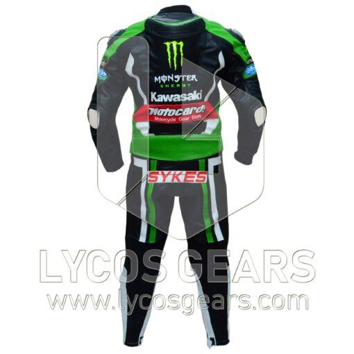 Tom Sykes Kawasaki Ninja Two Piece Motorbike Racing Leather Suit
