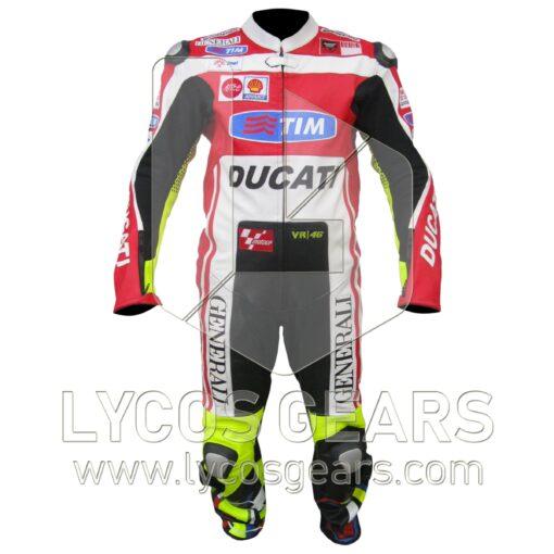 Valentino Rossi Ducati Motorbike Racing Leather Suit