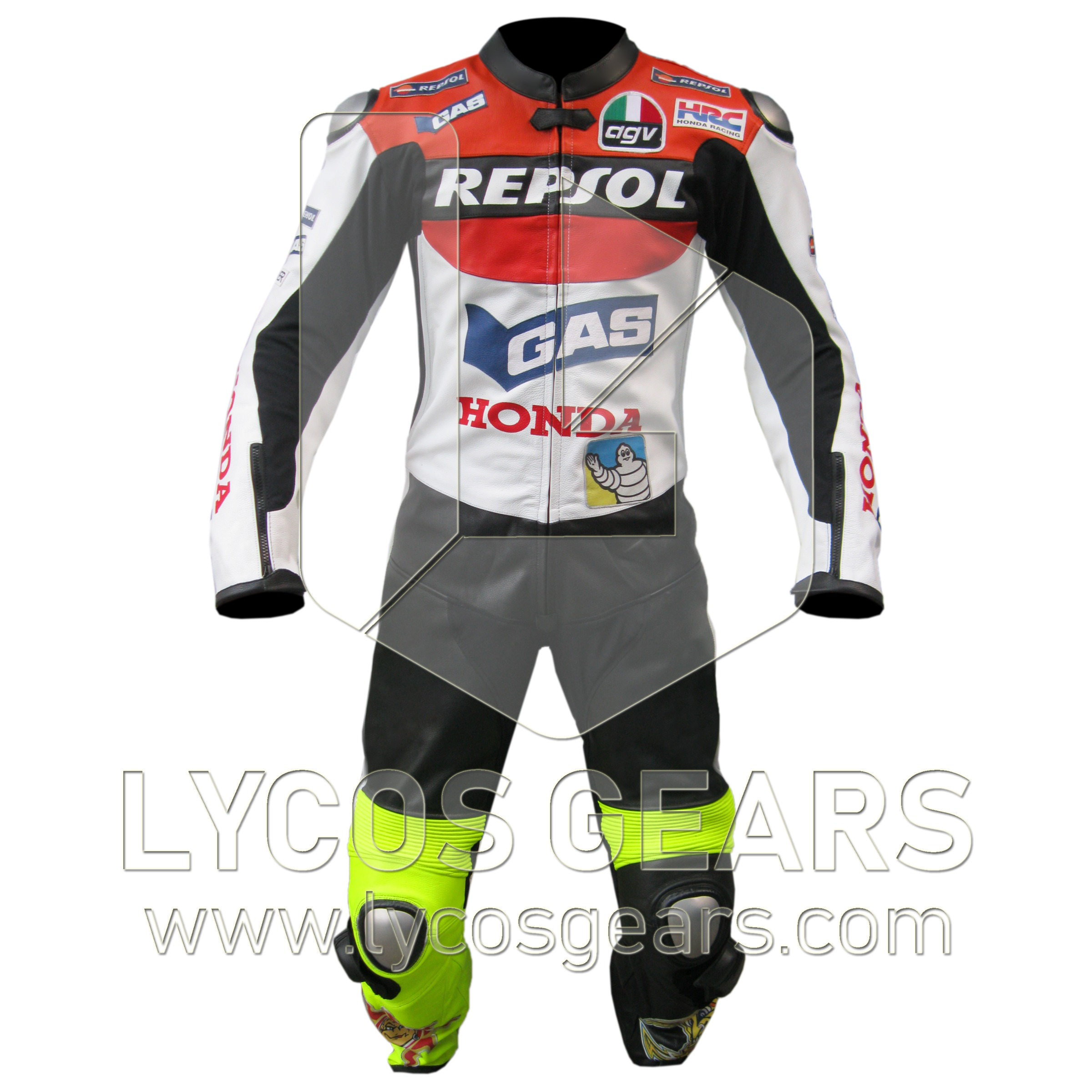 Valentino Rossi VR46 Motogp Motorcycle Leather Racing Jacket Available All Size