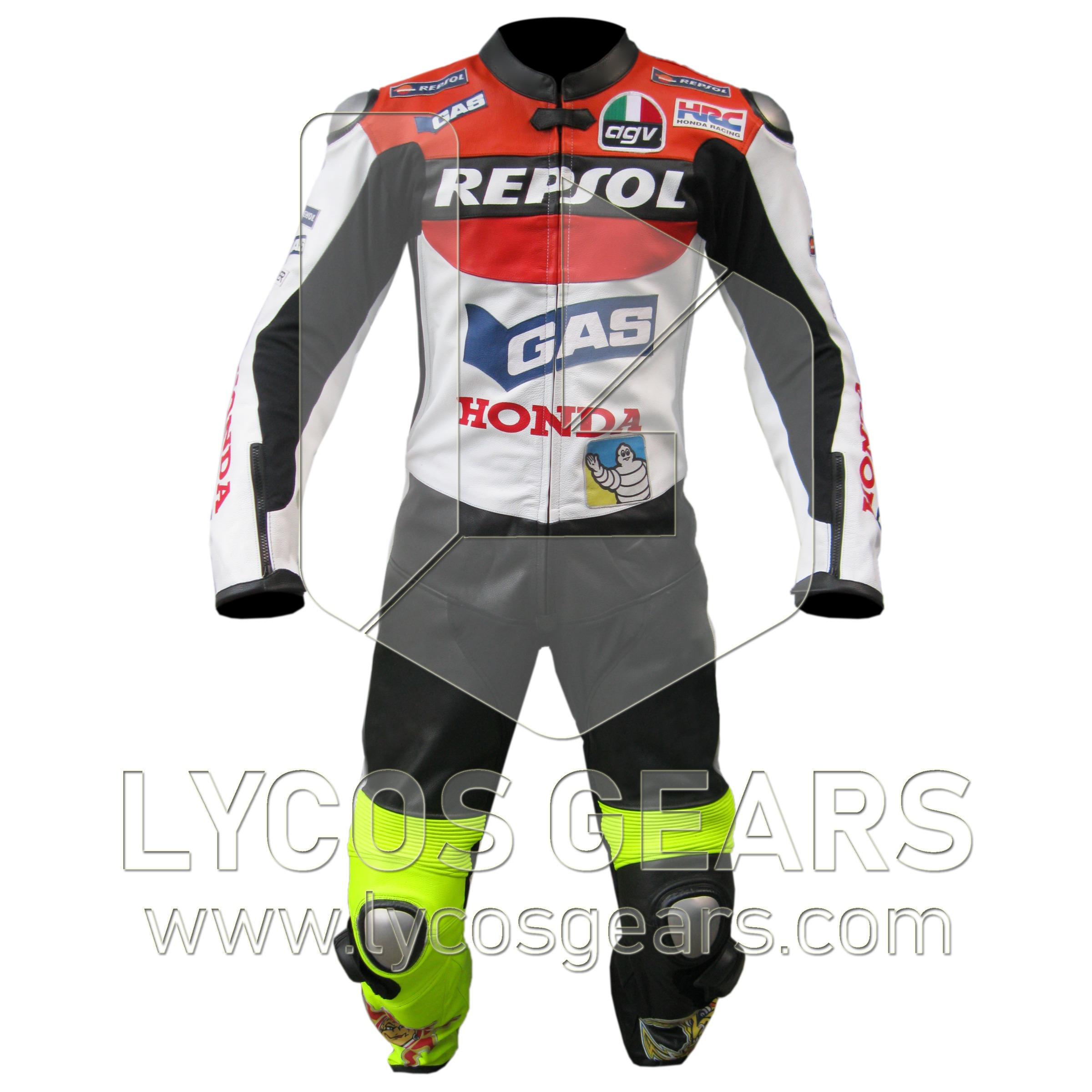 Valentino Rossi Honda Repsol VR46 Racing Leather Suit