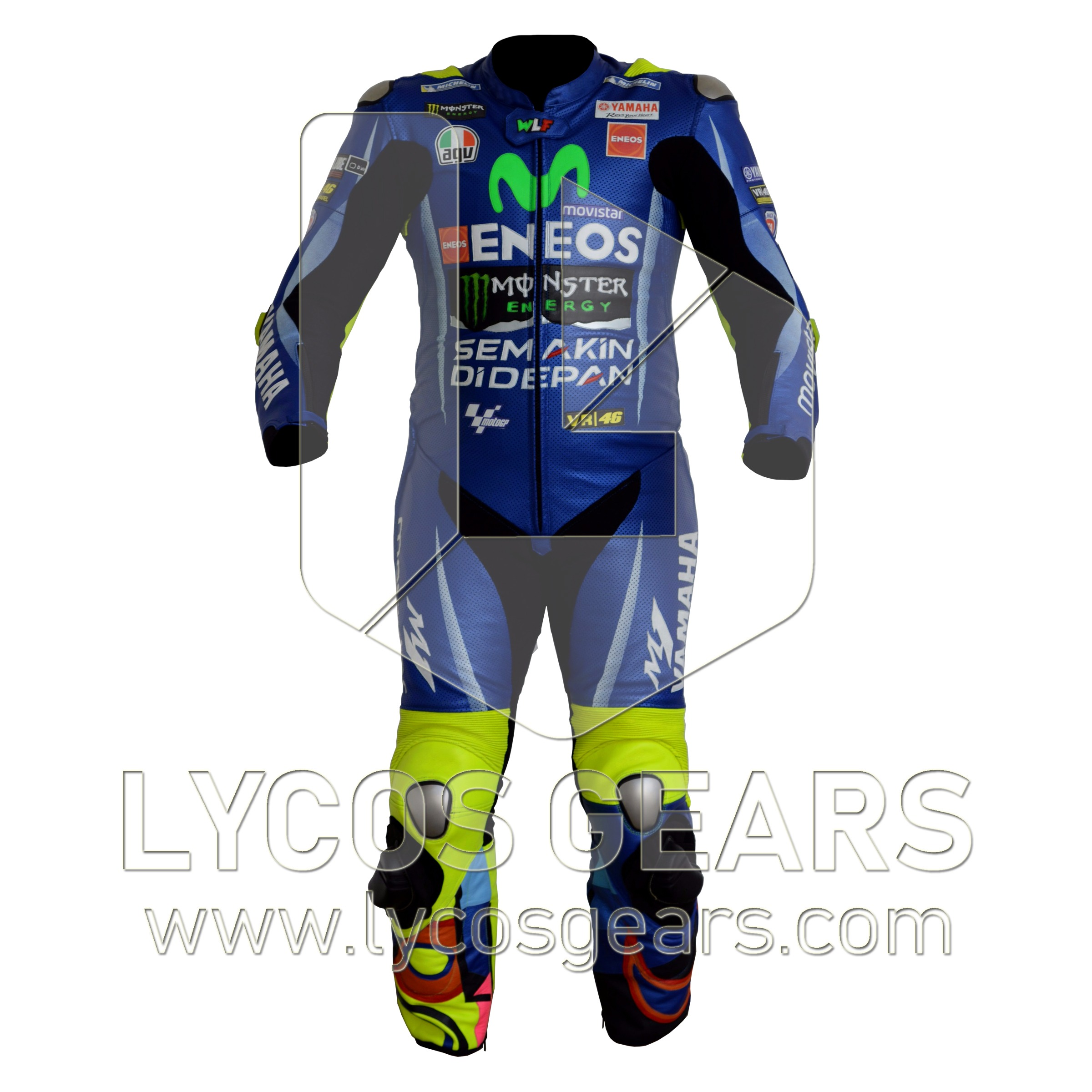 930a196501b3 Valentino Rossi Motorcycle Suit 2017 - Lycos Gears