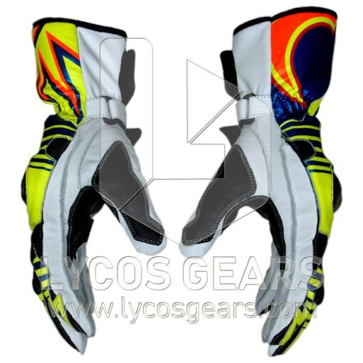 Valentino Rossi Motorbike Racing Leather Gloves 2016