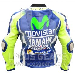 Valentino Rossi VR46 Motorbike Racing Leather Jacket 2016