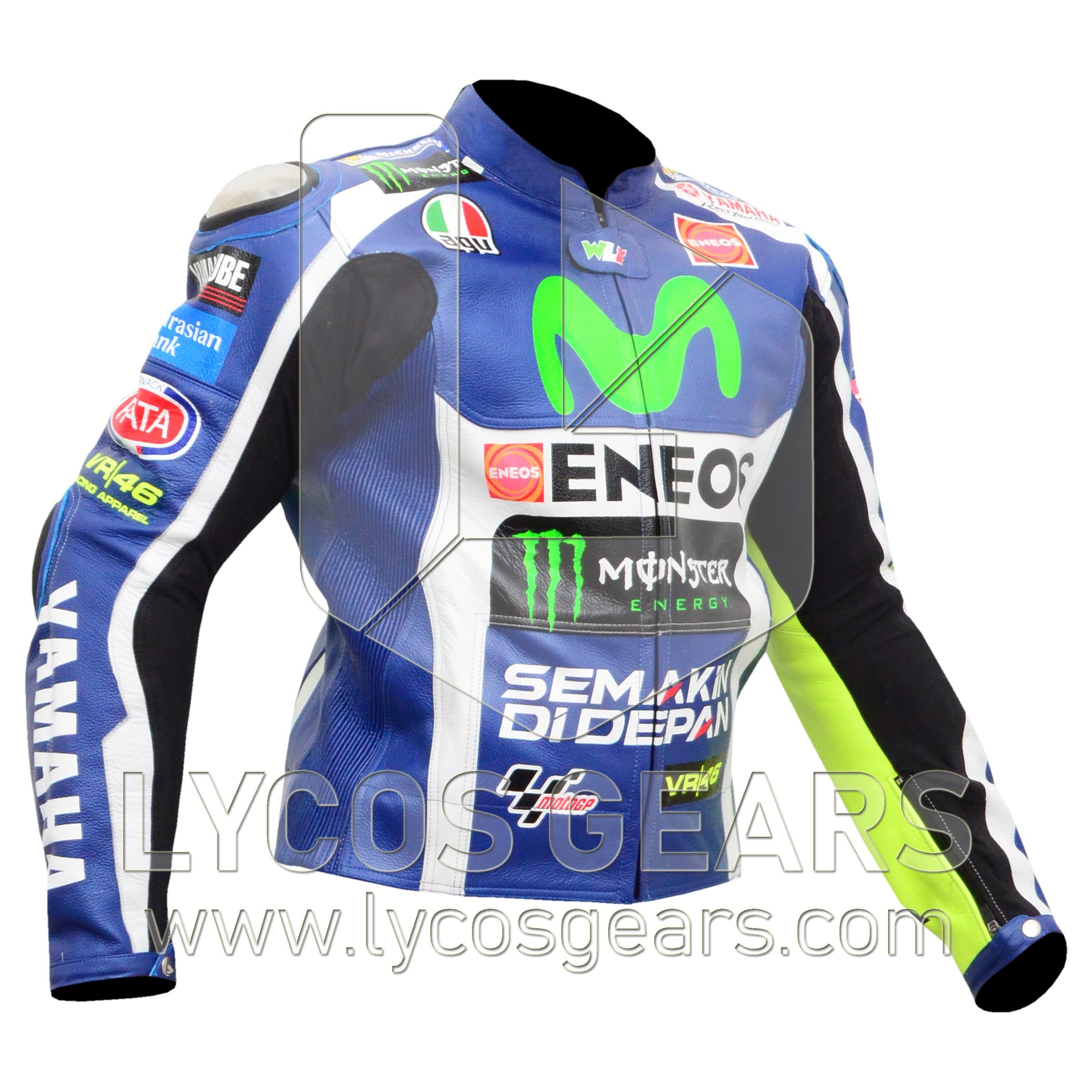 Valentino Rossi VR46 Motorbike Racing Leather Jacket 2016