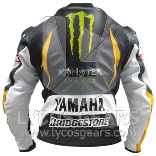 Yamaha Monster Motorbike Racing Leather Jacket
