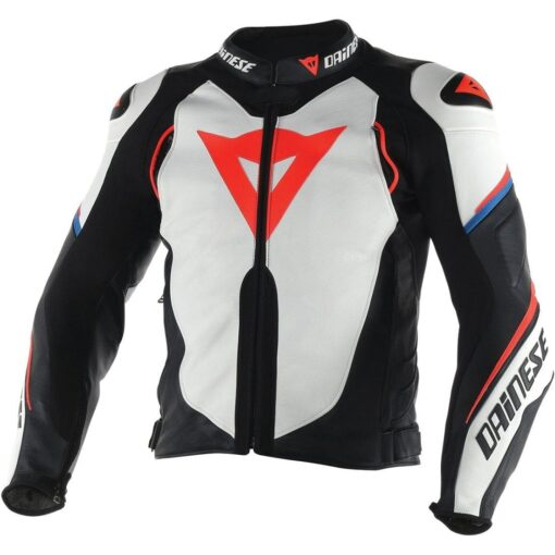 Dainese Motorcycle Leather Jacket (White)
