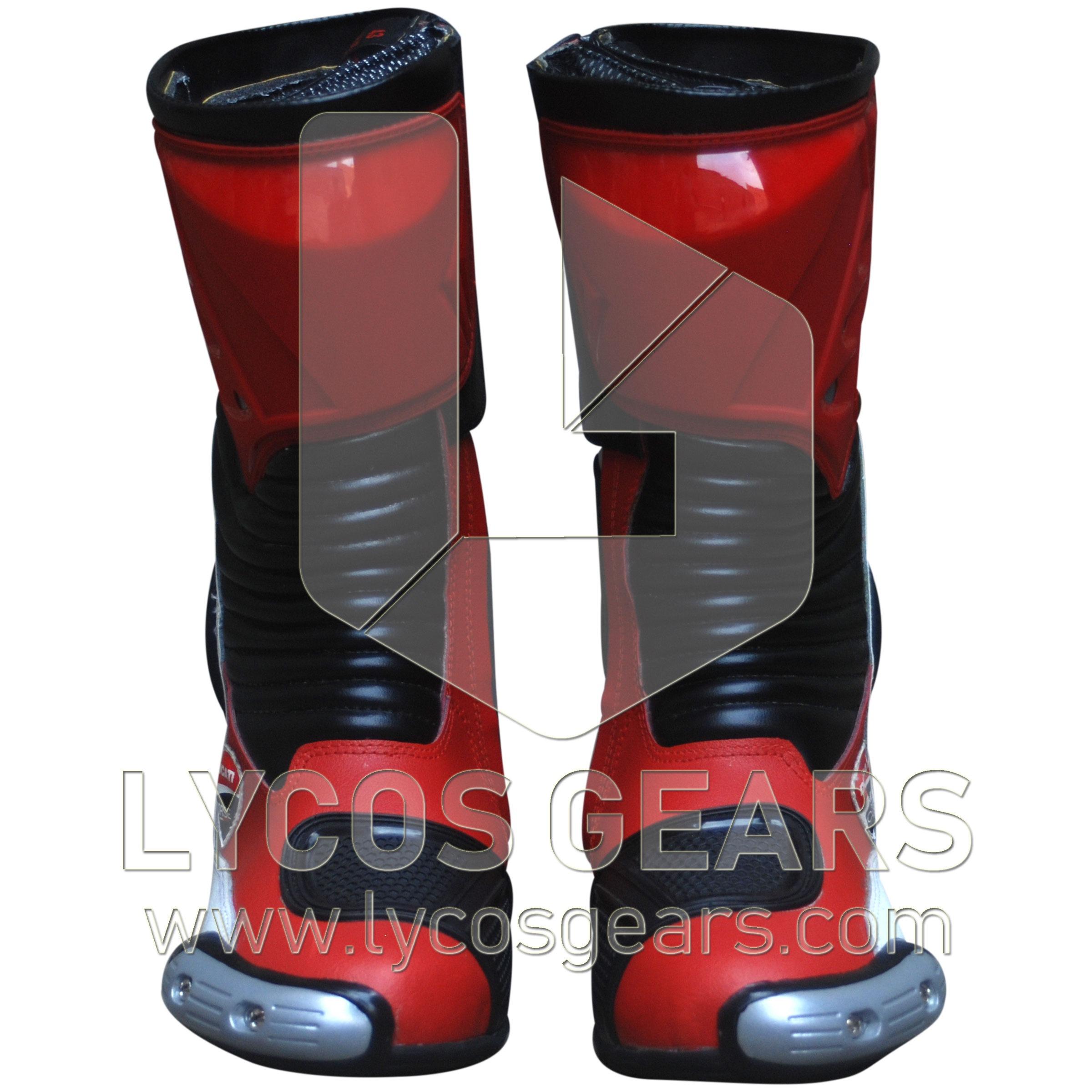 Ducati Motorbike Racing Leather Boots