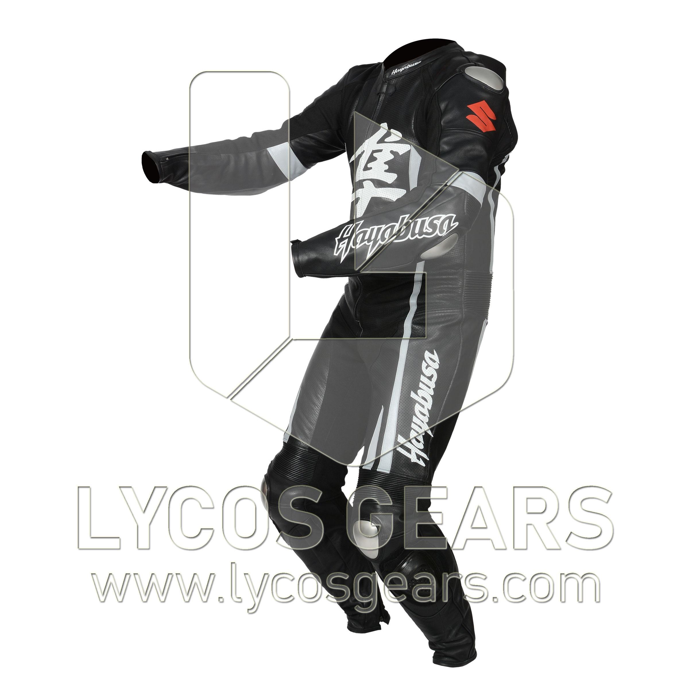 Hayabusa Motorbike Racing Leather Suit