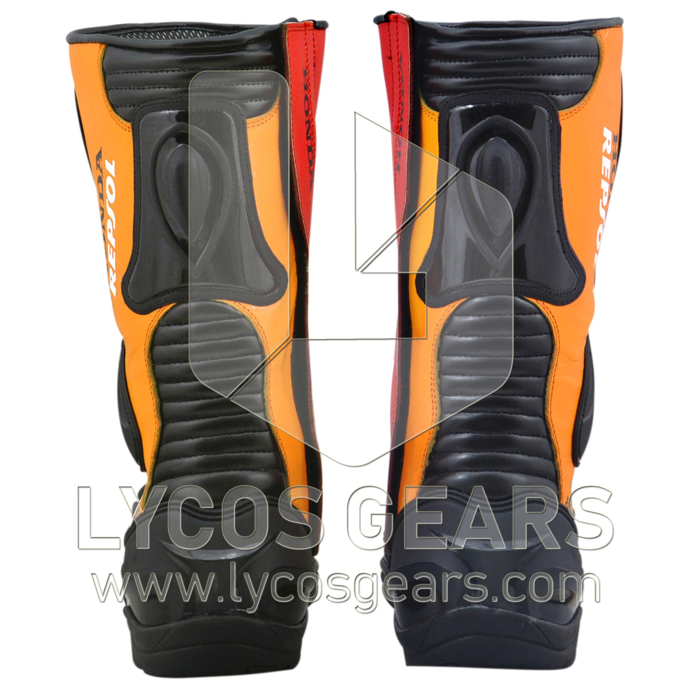 Honda Repsol Motorbike Racing Leather Boots 2013
