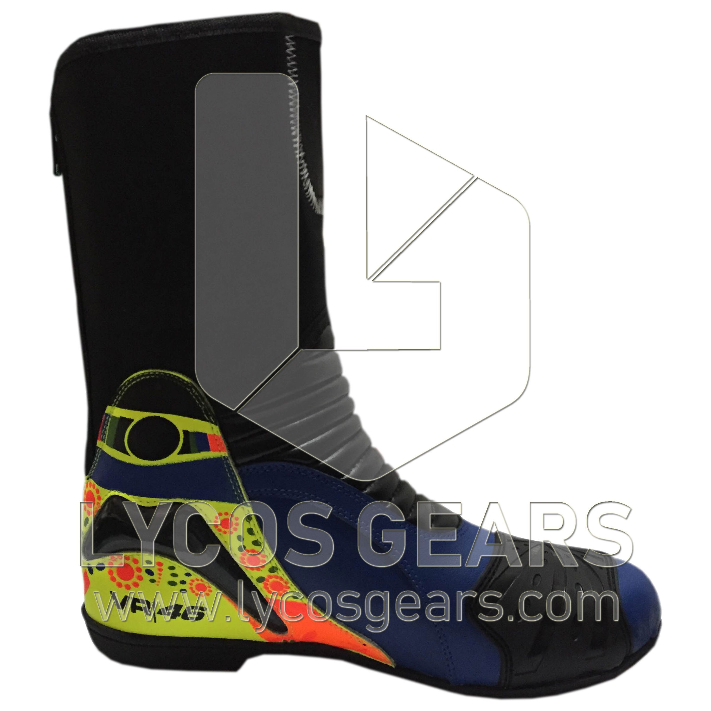 Rossi Motorbike Racing Leather Boots 2014