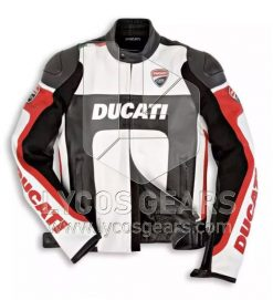 Ducati Motorcycle Leather Jacket - Black Replica