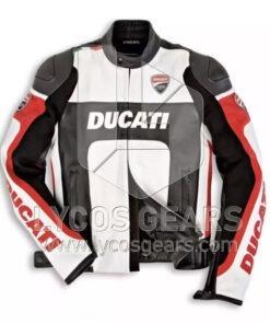 Ducati Motorcycle Leather Jacket - Black Replica