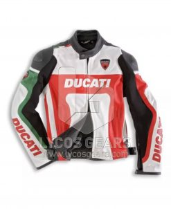 Ducati Motorcycle Leather Jacket - Red Replica