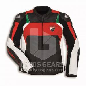 Ducati Motorcycle Leather Jacket Replica