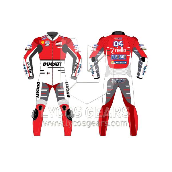 Andrea Dovizioso Ducati Motogp 2018 Motorcycle Leather Suit moto