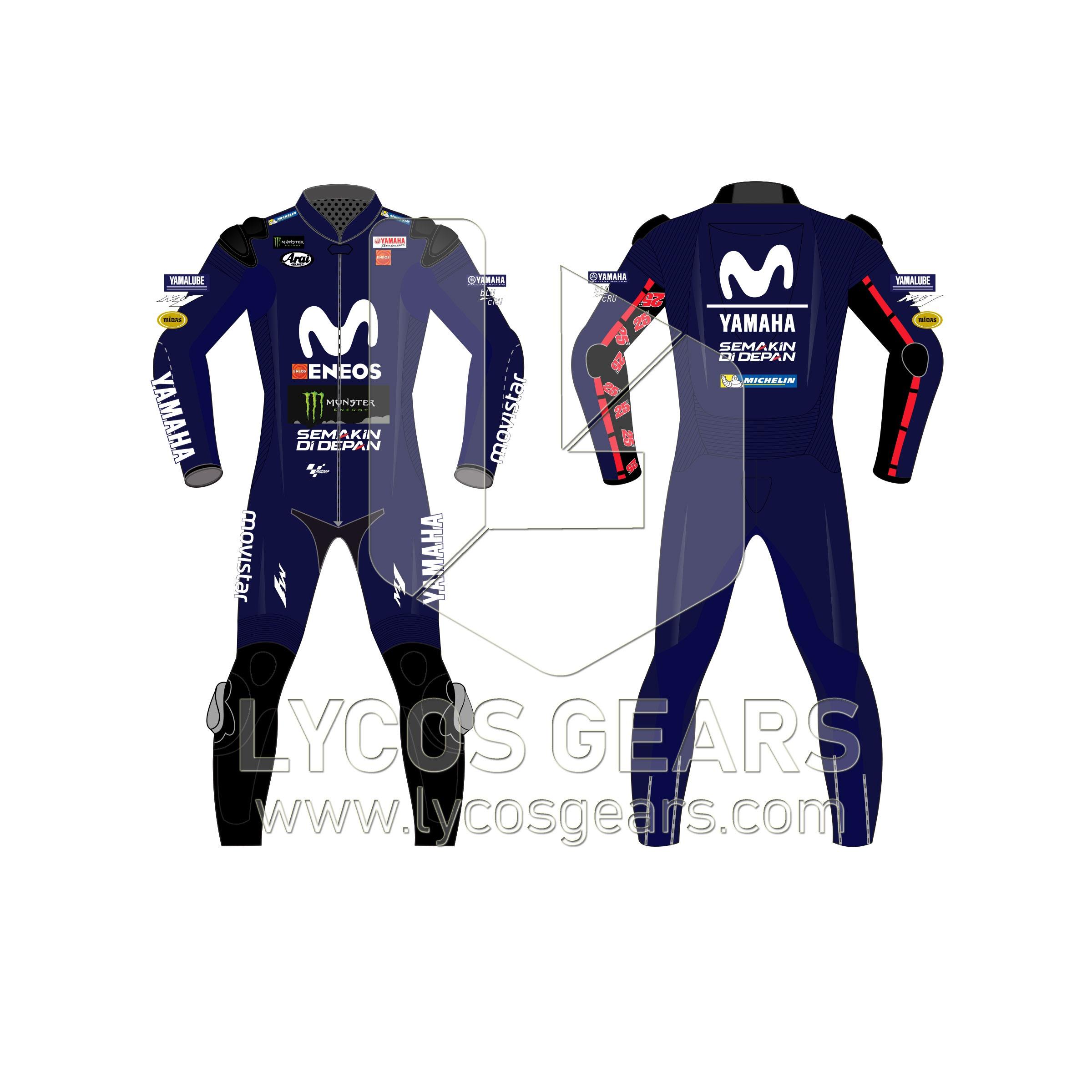 Maverick Vinales motorcycle suit motogp 2018